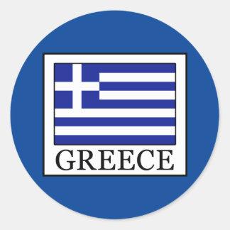 Sticker Rond La Grèce
