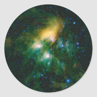 Sticker Rond La NASA Pleiades