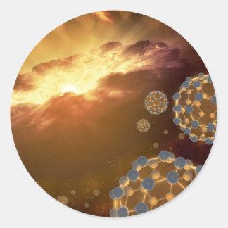 Sticker Rond La plus grande molécule Buckyballs de la NASA