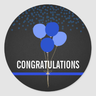 Sticker Rond La police Party des félicitations orientées