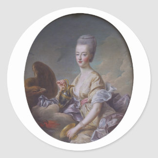 Sticker Rond La Reine Marie Antoinette par François Hubert