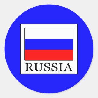 Sticker Rond La Russie