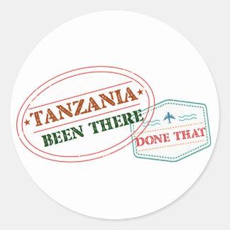 Sticker Rond La Tanzanie là fait cela