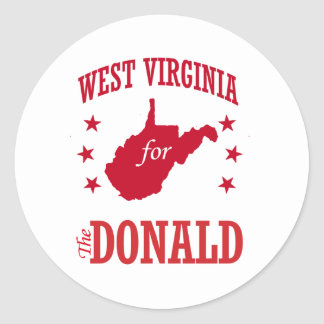 STICKER ROND LA VIRGINIE OCCIDENTALE POUR DONALD TRUMP