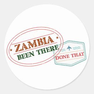 Sticker Rond La Zambie là fait cela