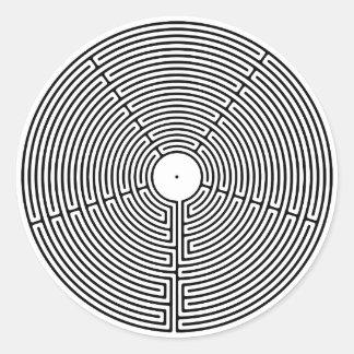 Sticker Rond Labyrinthe de 23 circuits