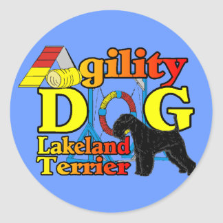 Sticker Rond Lakeland_Terrier_Agility
