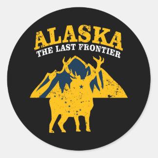Sticker Rond L'Alaska la dernière frontière