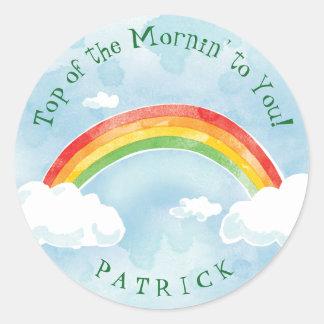 Sticker Rond L'arc-en-ciel Mornin ajoutent le nom