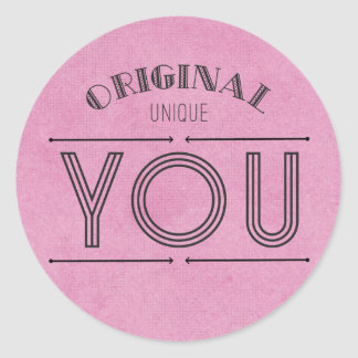 Sticker Rond L'attitude, buts, soulignent la citation de