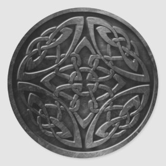 Sticker Rond L'autocollant celtique du symbole 2, 3 s'avancent