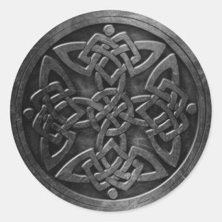 Sticker Rond L'autocollant celtique du symbole 3, 3 s'avancent