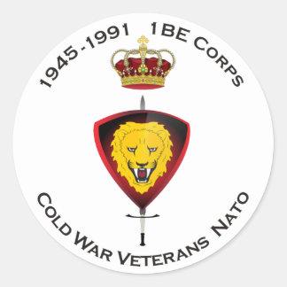 Sticker Rond L'autocollant Cold désordre Veterans NATO 1BE le