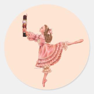 Sticker Rond L'autocollant de ballet de casse-noix
