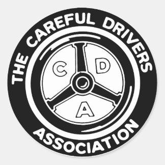 Sticker Rond L'autocollant soigneux d'association de
