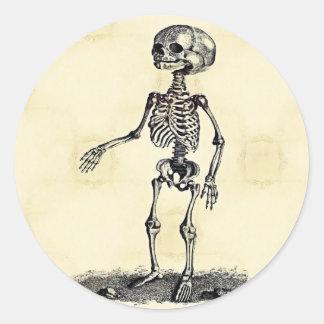 Sticker Rond L'autocollant squelettique de l'enfant