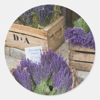 Sticker Rond Lavendar à vendre, Provence, France