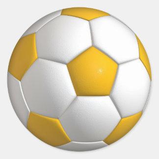 Sticker Rond Le ballon de football jaune folâtre les