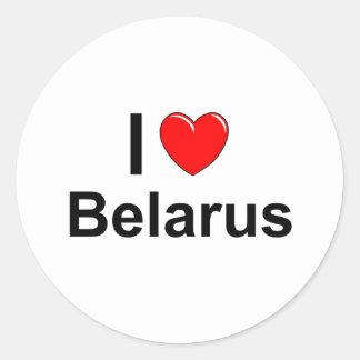 Sticker Rond Le Belarus