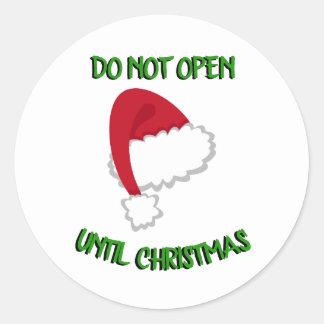 Sticker Rond Le casquette de Père Noël n'ouvrent pas