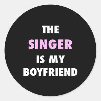 Sticker Rond Le chanteur est ma copie d'ami
