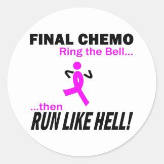 Sticker Rond Le chimio final courent beaucoup - cancer du sein
