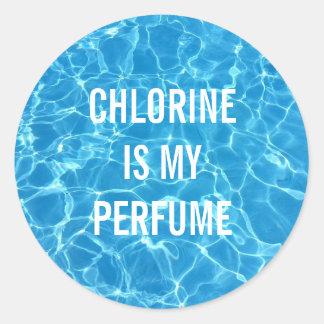 Sticker Rond Le chlore est mon parfum