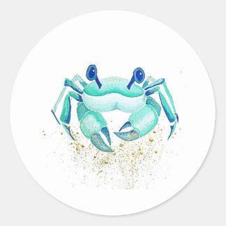 Sticker Rond Le crabe de Neptune