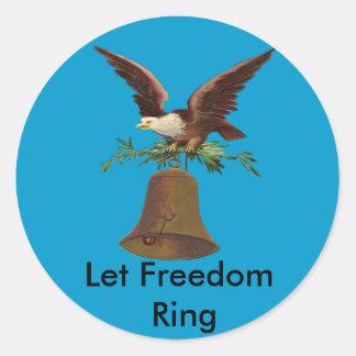 Sticker Rond Le cru a laissé l'anneau de liberté