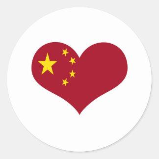 Sticker Rond Le drapeau de la république populaire de Chine