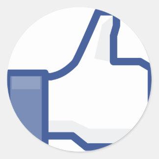 Sticker Rond le facebook M'AIMENT manier maladroitement !