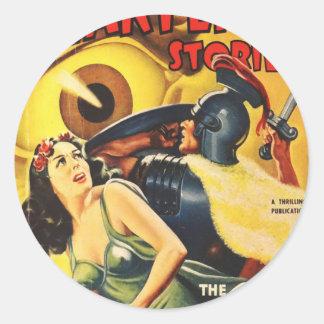 Sticker Rond Le gladiateur combat un globe oculaire