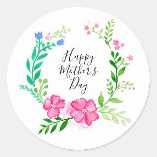 Sticker Rond Le jour de mère heureux
