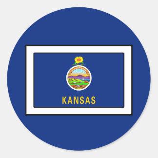 Sticker Rond Le Kansas