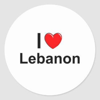 Sticker Rond Le Liban