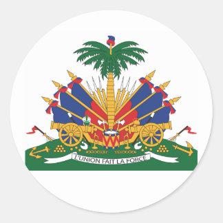 Sticker Rond Le manteau du Haïti des bras