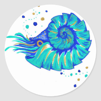 Sticker Rond Le Nautilus de Neptune
