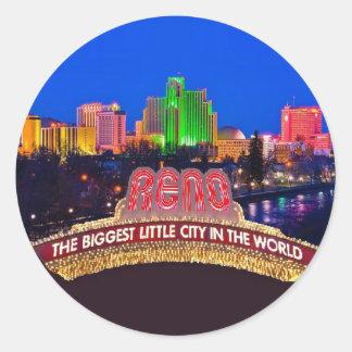 Sticker Rond Le NEVADA Reno