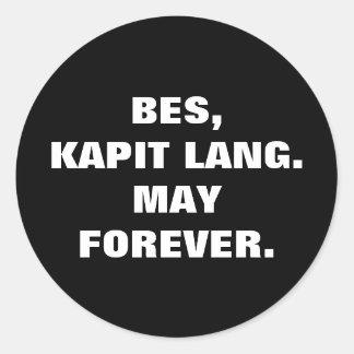 Sticker Rond Le pari philippin Kapit Lang d'argot peut pour