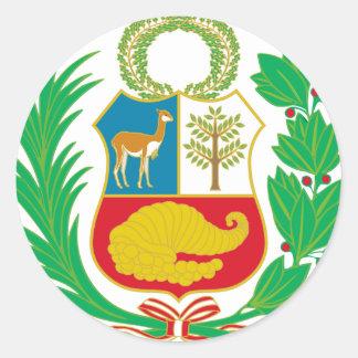 Sticker Rond Le Pérou - escudo Nacional (emblème national)