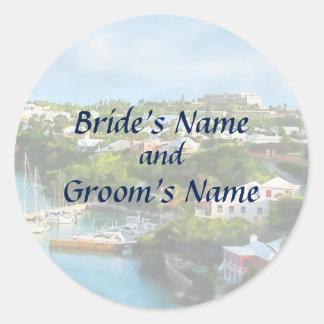 Sticker Rond Le port de St George, économies des Bermudes la