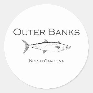 Sticker Rond Le Roi externe maquereau de la Caroline du Nord de