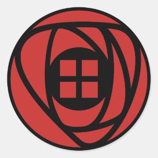Sticker Rond Le style d'arts et de métiers de Charles Rennie