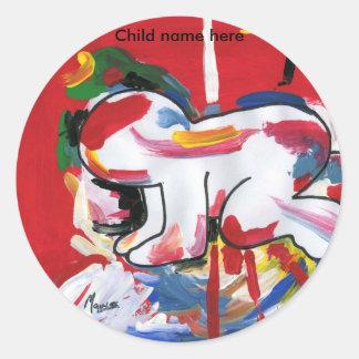 Sticker Rond Le style maximum de Peter personnalisent