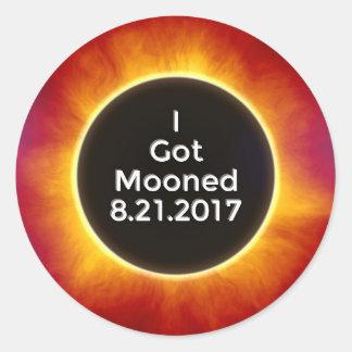 Sticker Rond L'éclipse solaire américaine obtient le 21 août