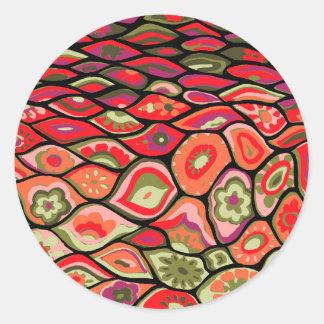 Sticker Rond les années 70 psychédélique