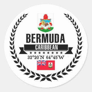 Sticker Rond Les Bermudes