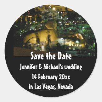 Sticker Rond Les mariages de Las Vegas font gagner la date