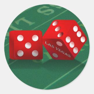 Sticker Rond Les merdes ajournent avec des matrices de Las