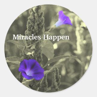 Sticker Rond Les miracles de gloires de matin se produisent